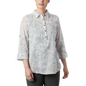 Columbia Summer Ease Popover Tunica Donna, cirrus grey wispy bamboo print